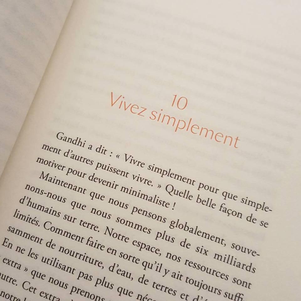 Lecture minimalisme - Le bonheur est dans le peu - Francine Jay 2