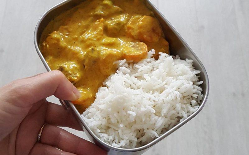 curry de potimarron et seitan